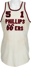 Basketball Collectibles:Uniforms, 1950's Phillips 66ers Game Worn #51 Uniform. ...