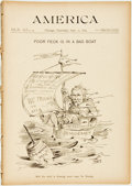 Books:Periodicals, [Periodical]. Group of Sixteen Issues of America, Vol. IV, Nos.3, 9 & 12-25. Chicago: Slason Thompson & Co., April-...
