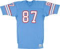 Football Collectibles:Uniforms, Early 1980's Dave Casper Game Issued/Worn Houston Oilers Jersey....