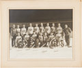 Hockey Collectibles:Photos, 1933-34 New York Americans Oversized Type 1 Mounted Photograph....