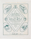 Baseball Collectibles:Others, 1910's Ty Cobb & Others Oversized Advertising Page....