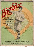 Baseball Collectibles:Others, 1922 Christy Mathewson Big Six Indoor Baseball Game....