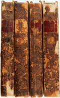 Books:Literature Pre-1900, [Frances Burney]. Cecelia, or Memoirs of an Heiress, Vols. I& II, IV & V. London: T. Payne, 1782. First edition.La... (Total: 4 Items)