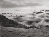 ANSEL ADAMS (American, 1902-1984) Clearing Storm, Sonoma County Hills, CA, 1951 Gelatin silver, prin