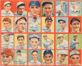Baseball Cards:Singles (1930-1939), 1935 R321 Goudey 4-In-1 Uncut Panel With Foxx, Dean and six OtherHoFers!...