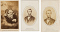 Photography:CDVs, Three Abraham Lincoln Memorial Cartes de Visite....