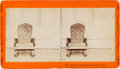 Photography:Stereo Cards, Abraham Lincoln Assassination Chair Stereoview...