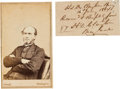Autographs:Military Figures, General Henry DeLamar Clayton: Clipped Autograph Endorsement and Carte de Visite.... (Total: 2 )