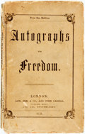Books:Americana & American History, [Anti-Slavery]. Horace Greeley, Annie Parker, Harriet BeecherStowe, Frederick Douglass, et al. Autographs for Freedom....