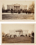 Photography:CDVs, The White House: Two Cartes de Visite, circa 1866.... (Total: 2 )
