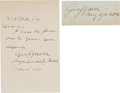 Autographs:Military Figures, General George S. Greene: One Autograph Note Signed with One War-Dated Signature.... (Total: 2 )