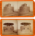 Photography:Stereo Cards, USS Monitor: Two Stereoviews of the Turret of the Union Ironclad Monitor....