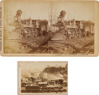 The General: Stereoview and Carte de Visite of the Steam Locomotive The