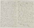 Autographs:Military Figures, General Orion A. Bartholomew Autograph Letter Signed...