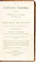 Books:Americana & American History, [Slavery]. [John Lewis]. An Authentic Narrative of SomeRemarkable and Interesting Particulars in the Life of... Edi...