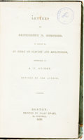 Books:Americana & American History, [Anti-Slavery]. [Angelina Grimke]. Letters to Catharine E.Beecher in Reply to an Essay on Slavery and Abolitionism,Add...