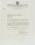 Autographs:Letters, 1950 Connie Mack Signed Letter Regarding Retirement FromBaseball....