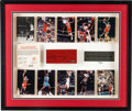 Basketball Collectibles:Others, Circa 2000 Michael Jordan Signed Chicago Bulls Game Used UDA Floor Display....