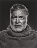 Photographs, YOUSUF KARSH (Canadian, 1908-2002). Ernest Hemingway, 1957. Gelatin silver. 11 x 8-1/2 inches (27.9 x 21.6 cm). Signed i...