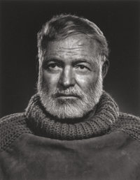 YOUSUF KARSH (Canadian, 1908-2002) Ernest Hemingway, 1957 Gelatin silver 11 x 8-1/2 inches (27.9