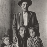 IRVING PENN (American, 1917-2009) Spanish Gypsy Family, 1965 Platinum-palladium, printed 1971 15-