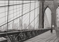 Photographs:Gelatin Silver, TODD WEBB (American, 1905-2000). Brooklyn Bridge, NY, 1946.Gelatin silver, printed 1976. 4-1/2 x 6-1/2 inches (11.4 x 1...