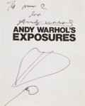 Books:Photography, Andy Warhol. Andy Warhol's Exposures. photographs byAndy Warhol text by Andy Warhol and Bob Colacello. New York...