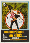 "Movie Posters:Musical, An American in Paris (DC Films, R-1980). Spanish One Sheet (27.5"" X 39.5""). Musical.. ..."