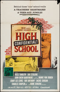 """High School Confidential & Other (MGM, 1958). One Sheet (27"""" X 41"""") & Trimmed Argentinean One Sheet (2..."""