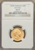 German States:Bavaria, German States: Bavaria. Ludwig II gold 20 Mark 1873-D AU55 NGC,...