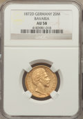 German States:Bavaria, German States: Bavaria. Ludwig II gold 20 Mark 1872-D AU58 NGC,...