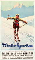 "Movie Posters:Miscellaneous, Winter Sports Travel Poster (Thomas Cook & Sons,Ltd./Wagon-Lits Co., London,1928-1929). Poster (23.5"" X 40"").. ..."