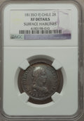 Chile, Chile: Ferdinand VII 2 Reales 1813 So-FJ, XF Details (SurfaceHairlines) NGC...