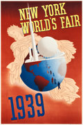 "Movie Posters:Miscellaneous, New York World's Fair Travel Poster (Grinnell Litho Co., 1939).Poster (20"" X 30"").. ..."