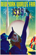 """Movie Posters:Miscellaneous, New York's World's Fair Travel Poster (Grinnell Litho. Co., 1939).Poster (20"""" X 30"""").. ..."""