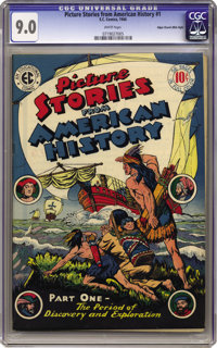 Picture Stories From American History #1 Mile High pedigree (EC, 1945) CGC VF/NM 9.0 White pages. This one hails from th...