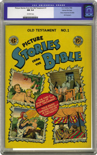 Picture Stories from the Bible Old Testament Edition #1 Gaines File pedigree (EC, 1946) CGC NM 9.4 Off-white pages. Whil...