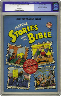 Picture Stories from the Bible Old Testament Edition #2 Gaines File pedigree 4/12 (EC, 1946) CGC NM 9.4 Off-white pages...