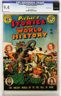 Golden Age (1938-1955):Non-Fiction, Picture Stories from World History #1 Gaines File pedigree 2/11(EC, 1947) CGC NM 9.4 Off-white to white pages. Bearing more...