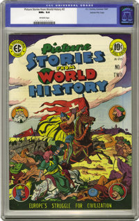 Picture Stories from World History #2 Gaines File pedigree 2/11 (EC, 1947) CGC NM+ 9.6 Off-white pages. This is one of t...
