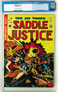Golden Age (1938-1955):Western, Saddle Justice #7 (EC, 1949) CGC VF/NM 9.0 Cream to off-whitepages. This copy's tied for the highest grade yet assigned to ...