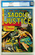 Golden Age (1938-1955):Western, Saddle Justice #8 (EC, 1949) CGC VF+ 8.5 Cream to off-white pages.A mere four copies of this issue appear on CGC's census a...