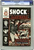 "Magazines:Crime, Shock Illustrated #1 Gaines File pedigree 3/12 (EC, 1955) CGC NM 9.4 Off-white pages. ""The psychology of a suburban switch p..."