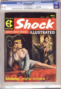Magazines:Crime, Shock Illustrated #3 Gaines File pedigree 3/11 (EC, 1956) CGC NM9.4 Cream to off-white pages. Rudy Nappi (who?) provide...