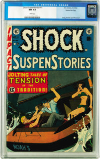 Shock SuspenStories #11 Gaines File pedigree 8/11 (EC, 1953) CGC NM 9.4 White pages. Johnny Craig cover. Craig, Wally Wo...