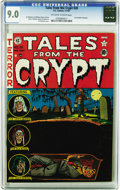 """Golden Age (1938-1955):Horror, Tales From the Crypt #28 (EC, 1952) CGC VF/NM 9.0 Off-white towhite pages. Al Feldstein's creepy """"Buried Alive"""" cover could..."""