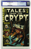 Golden Age (1938-1955):Horror, Tales From the Crypt #44 Gaines File pedigree 3/12 (EC, 1954) CGCNM+ 9.6 Off-white pages. Jack Davis' guillotine cover gets...