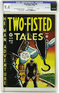Two-Fisted Tales #18 Gaines File pedigree (EC, 1950) CGC NM 9.4 Off-white pages. Harvey Kurtzman's genius and attention...