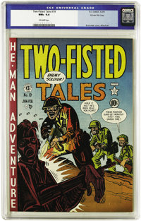 Two-Fisted Tales #19 Gaines File pedigree 3/10 (EC, 1951) CGC NM+ 9.6 Off-white pages. The horrors of war are very real...