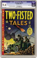 Golden Age (1938-1955):War, Two-Fisted Tales #23 Gaines File pedigree 10/10 (EC, 1951) CGC NM 9.4 Off-white to white pages. The Korean war had center st...